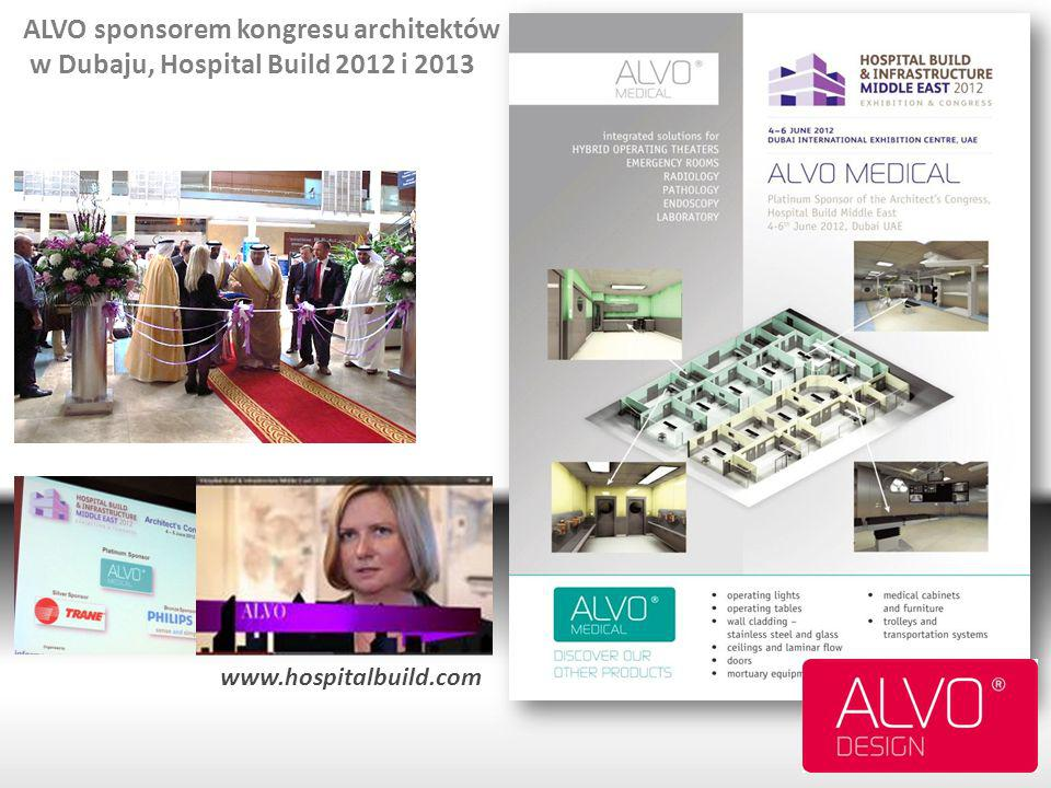 ALVO sponsorem kongresu architektów w Dubaju, Hospital Build 2012 i 2013