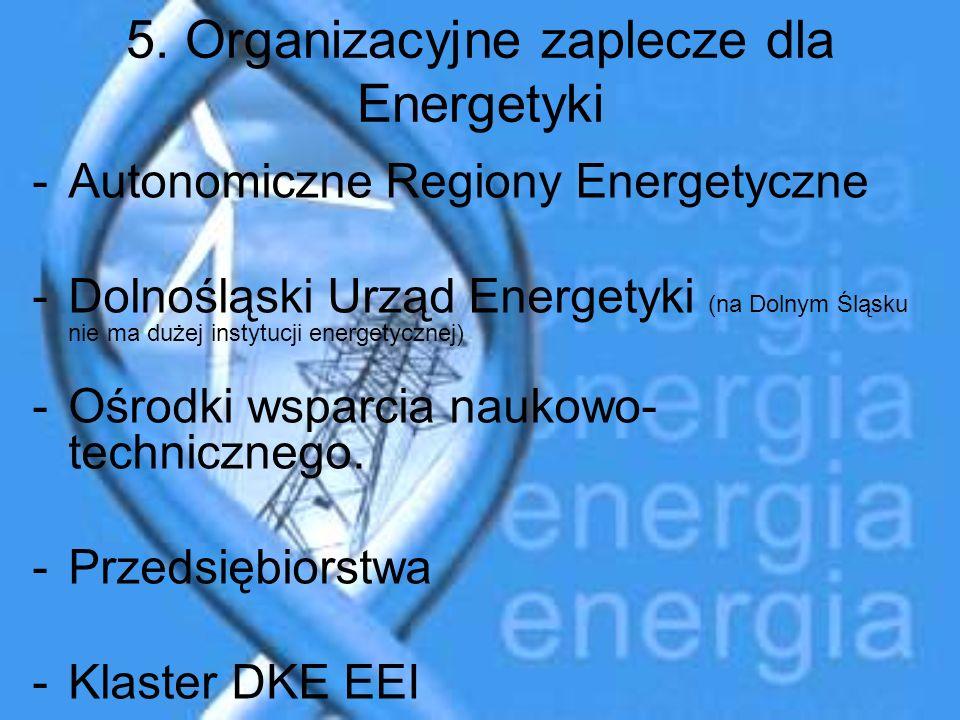 5. Organizacyjne zaplecze dla Energetyki