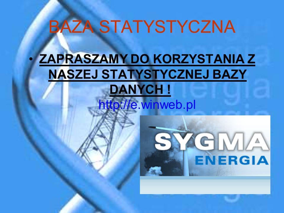 BAZA STATYSTYCZNA ZAPRASZAMY DO KORZYSTANIA Z NASZEJ STATYSTYCZNEJ BAZY DANYCH ! http://e.winweb.pl.