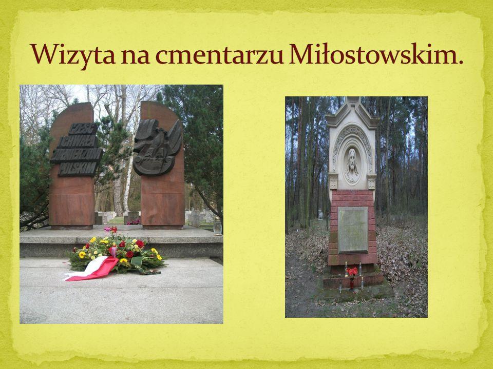 Wizyta na cmentarzu Miłostowskim.