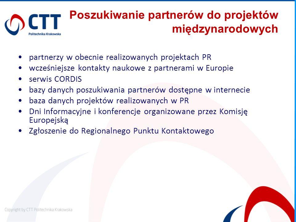 Poszukiwanie partnerów do projektów międzynarodowych