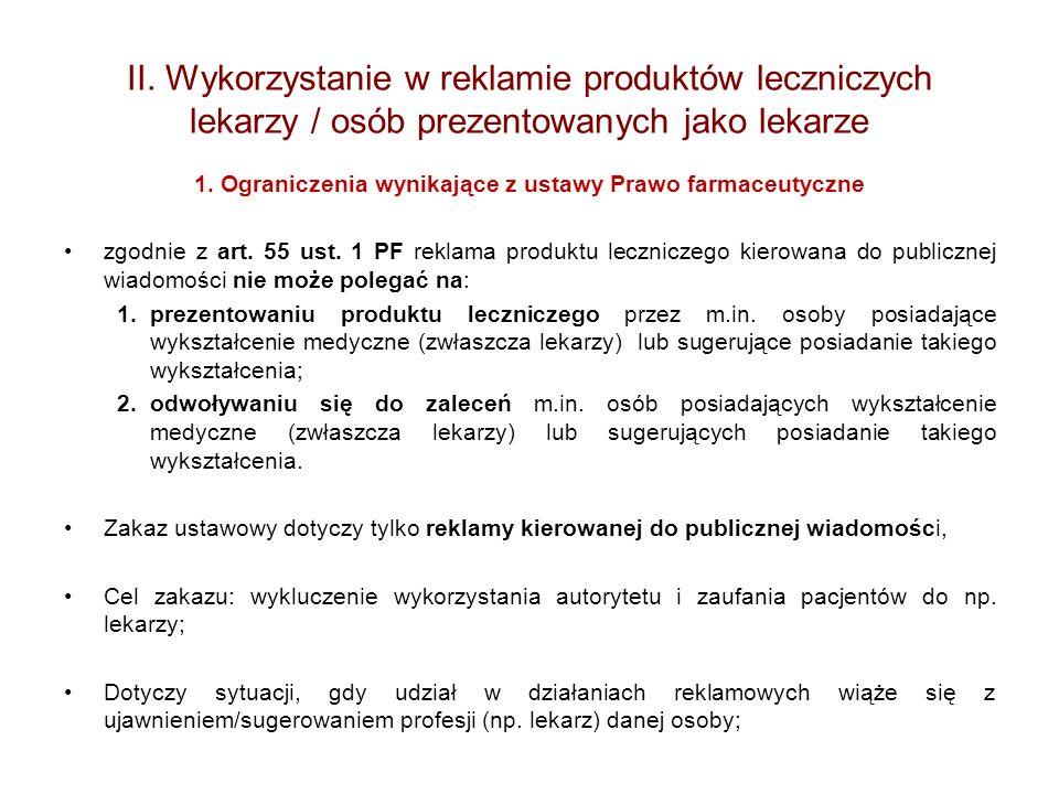 1. Ograniczenia wynikające z ustawy Prawo farmaceutyczne