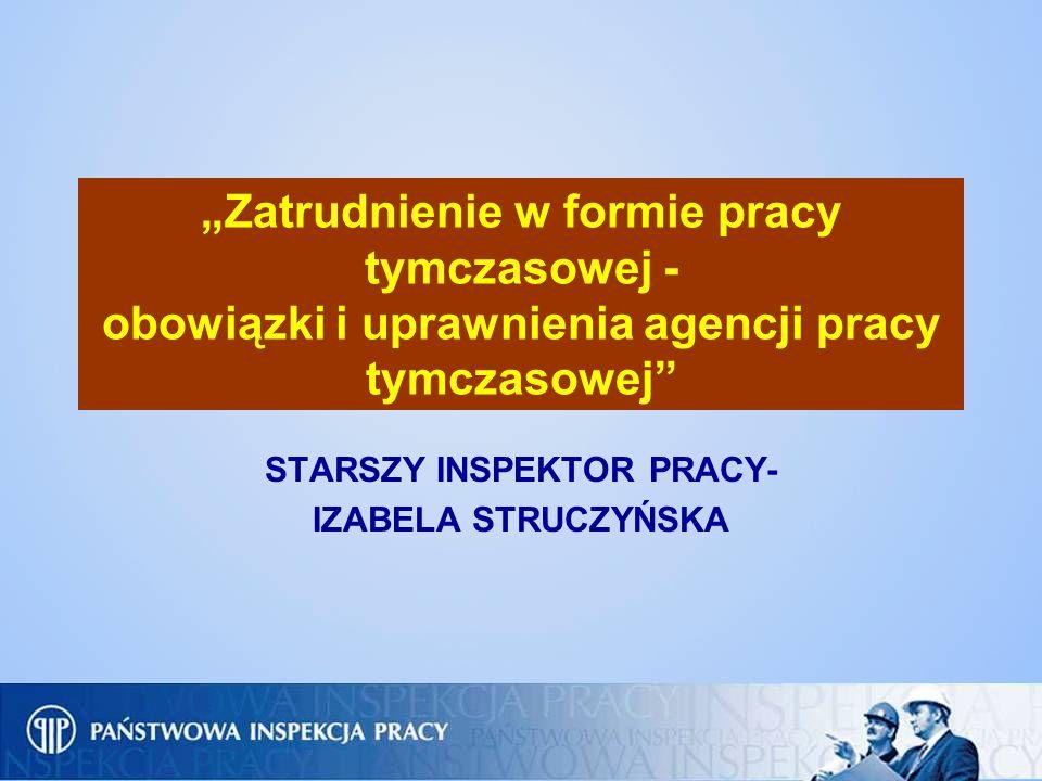STARSZY INSPEKTOR PRACY- IZABELA STRUCZYŃSKA