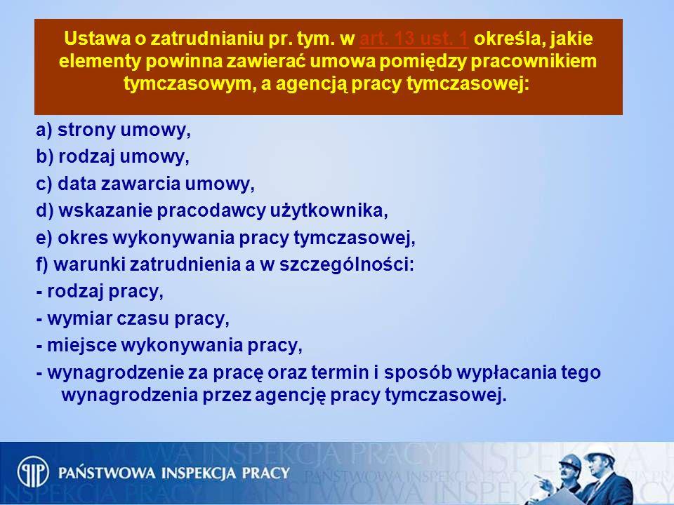 Ustawa o zatrudnianiu pr. tym. w art. 13 ust