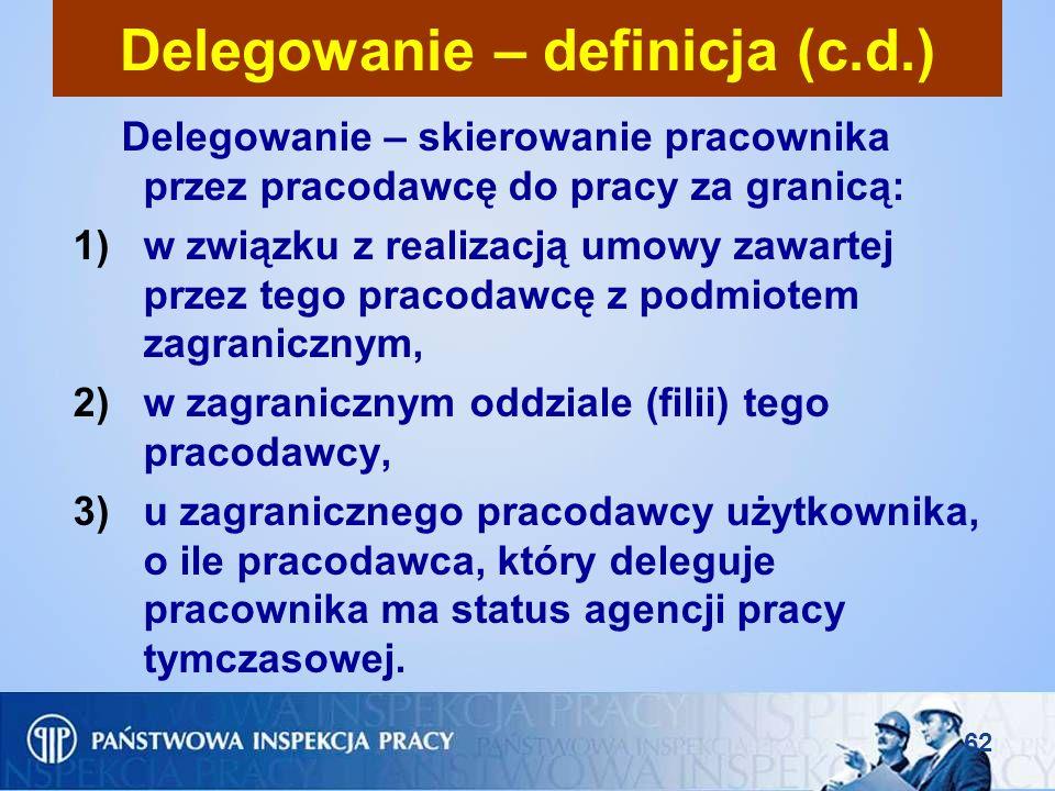Delegowanie – definicja (c.d.)