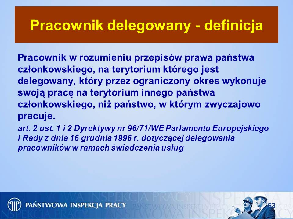 Pracownik delegowany - definicja