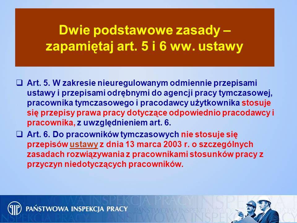 Dwie podstawowe zasady – zapamiętaj art. 5 i 6 ww. ustawy