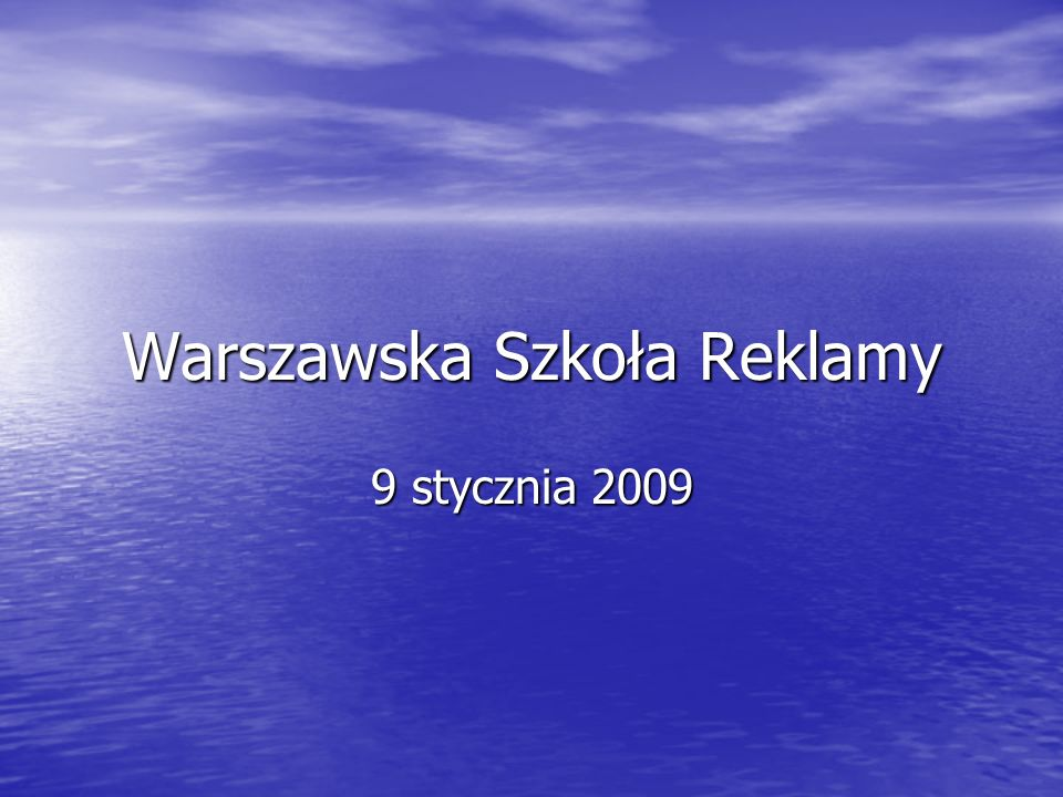 Warszawska Szkoła Reklamy