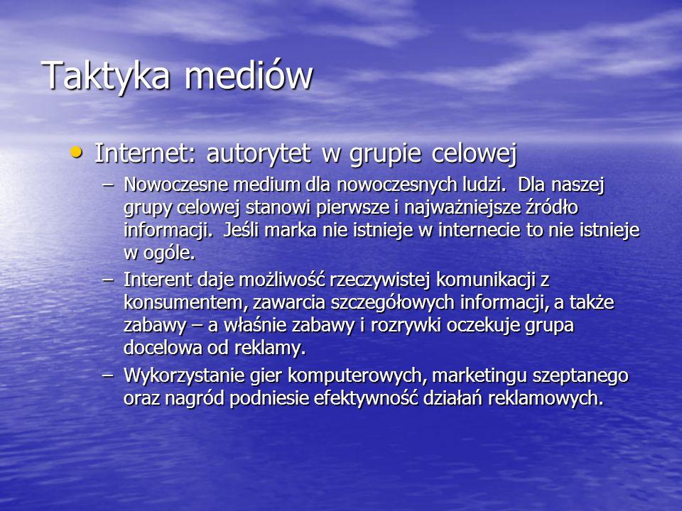 Taktyka mediów Internet: autorytet w grupie celowej