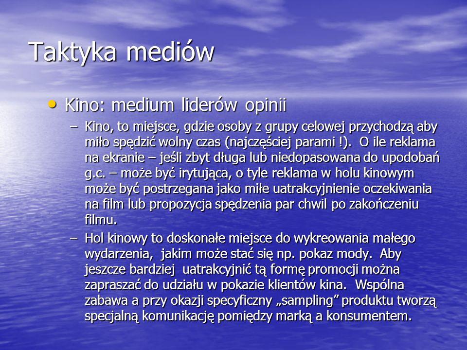 Taktyka mediów Kino: medium liderów opinii