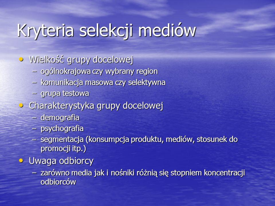 Kryteria selekcji mediów