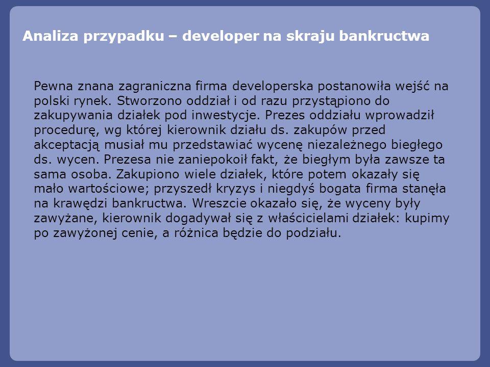 Analiza przypadku – developer na skraju bankructwa