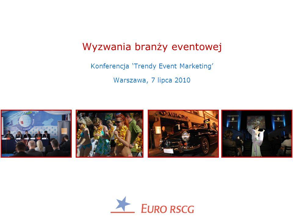 Wyzwania branży eventowej Konferencja 'Trendy Event Marketing' Warszawa, 7 lipca 2010