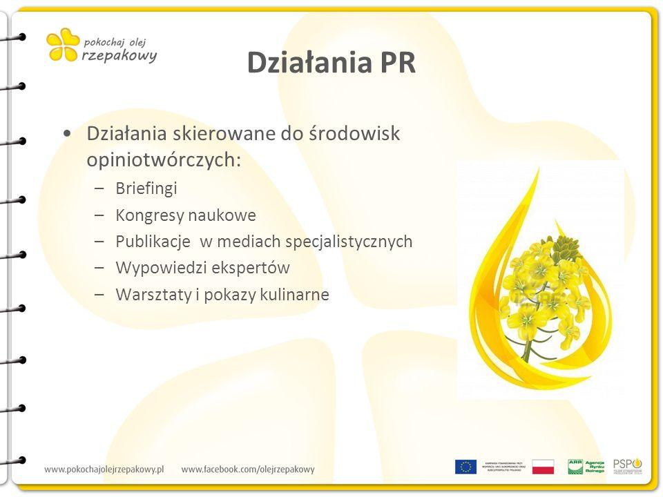 Działania PR Działania skierowane do środowisk opiniotwórczych: