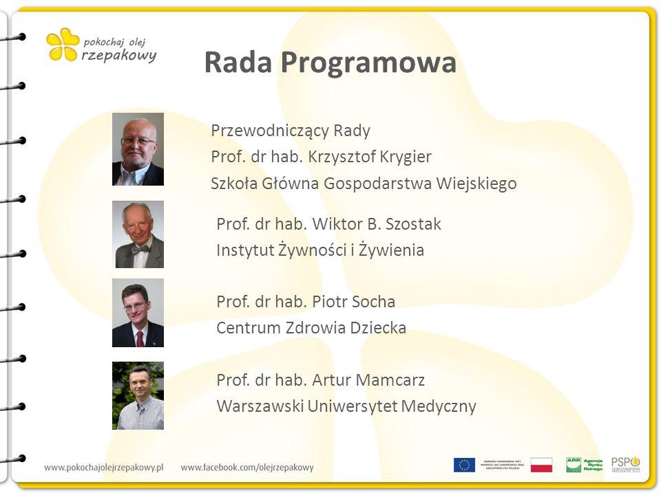Rada Programowa Przewodniczący Rady Prof. dr hab. Krzysztof Krygier Szkoła Główna Gospodarstwa Wiejskiego