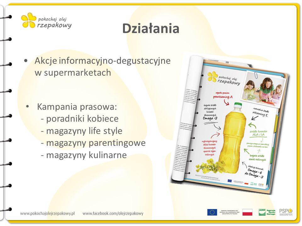 Działania Akcje informacyjno-degustacyjne w supermarketach