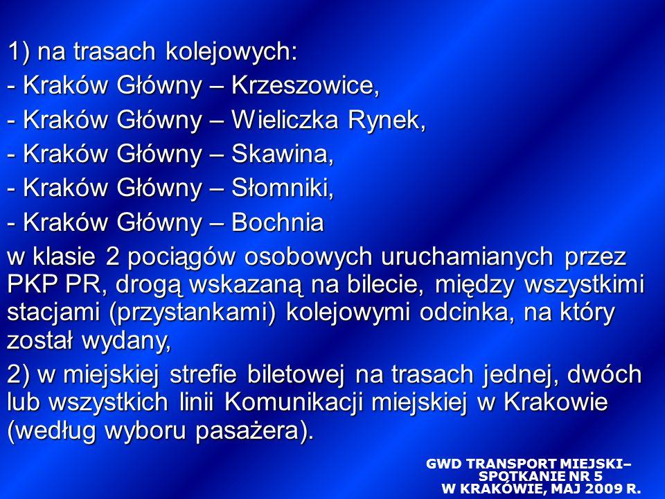 GWD TRANSPORT MIEJSKI– SPOTKANIE NR 5 W KRAKÓWIE, MAJ 2009 R.