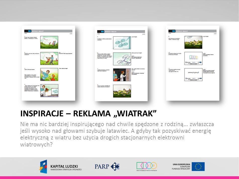 """INSPIRACJE – REKLAMA """"WIATRAK"""