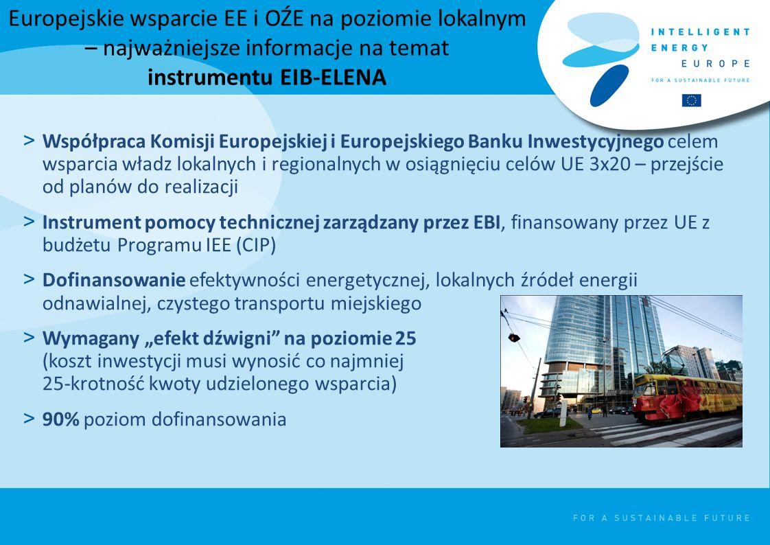 Europejskie wsparcie EE i OŹE na poziomie lokalnym – najważniejsze informacje na temat instrumentu EIB-ELENA