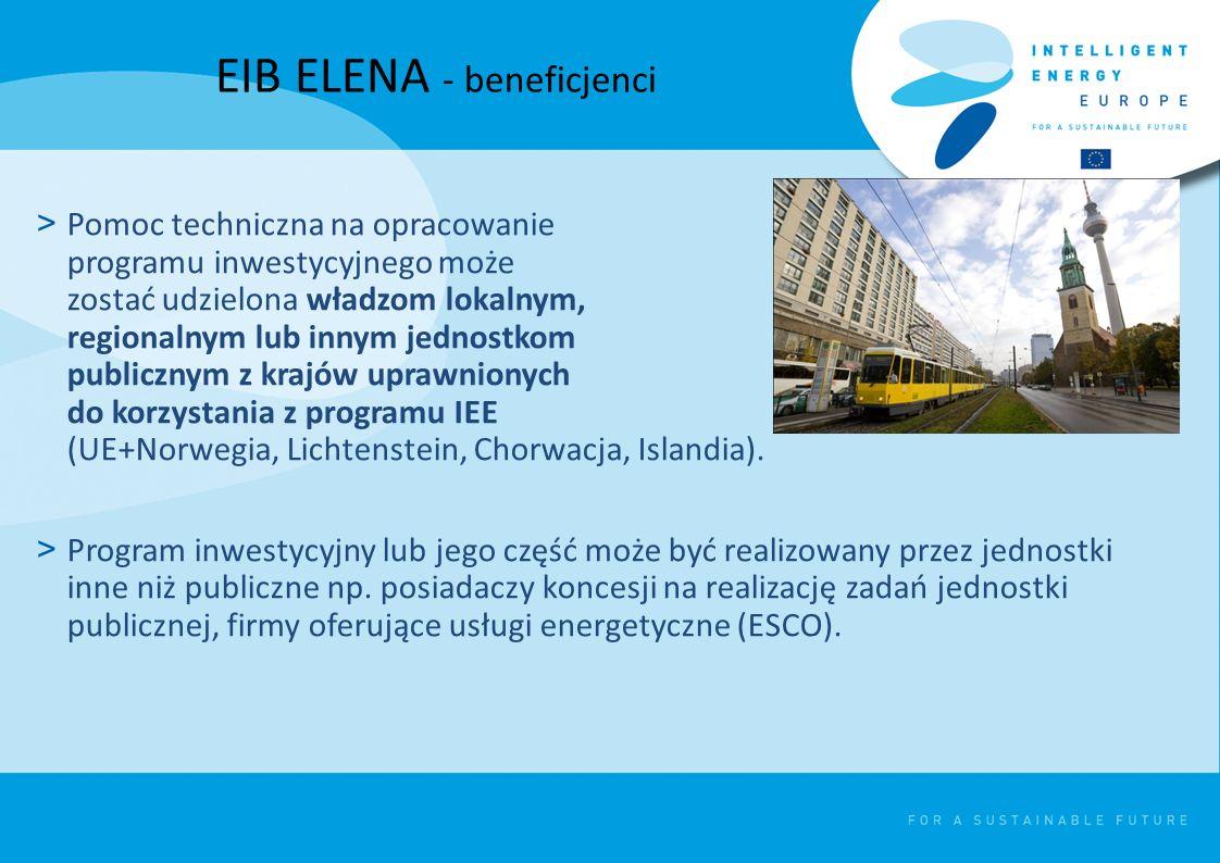 EIB ELENA - beneficjenci