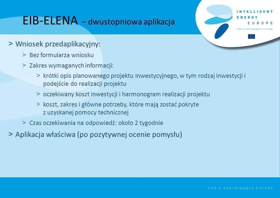 EIB-ELENA – dwustopniowa aplikacja