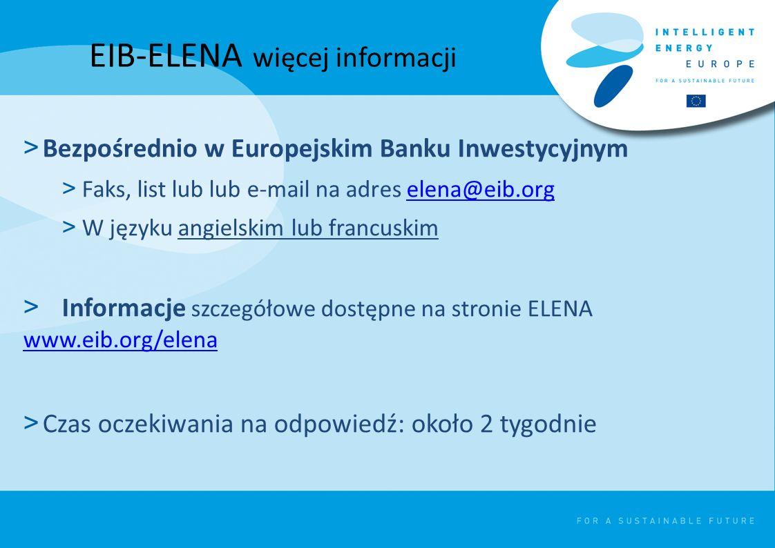 EIB-ELENA więcej informacji