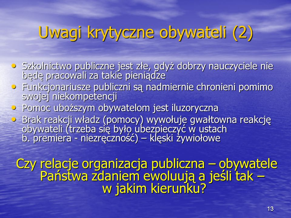 Uwagi krytyczne obywateli (2)