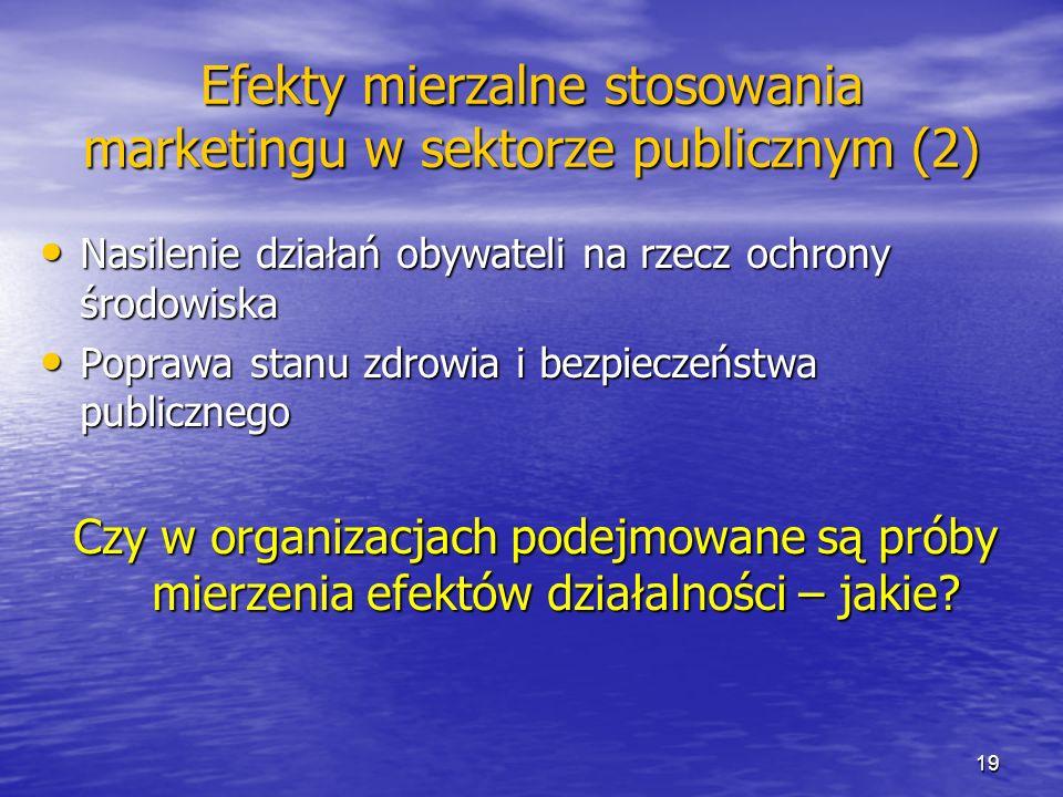 Efekty mierzalne stosowania marketingu w sektorze publicznym (2)