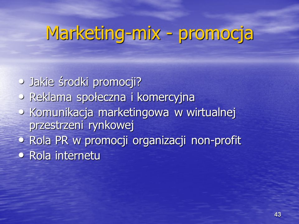 Marketing-mix - promocja