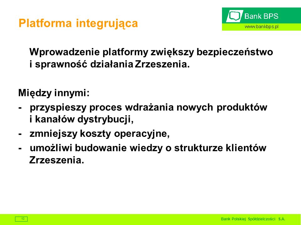 Platforma integrująca