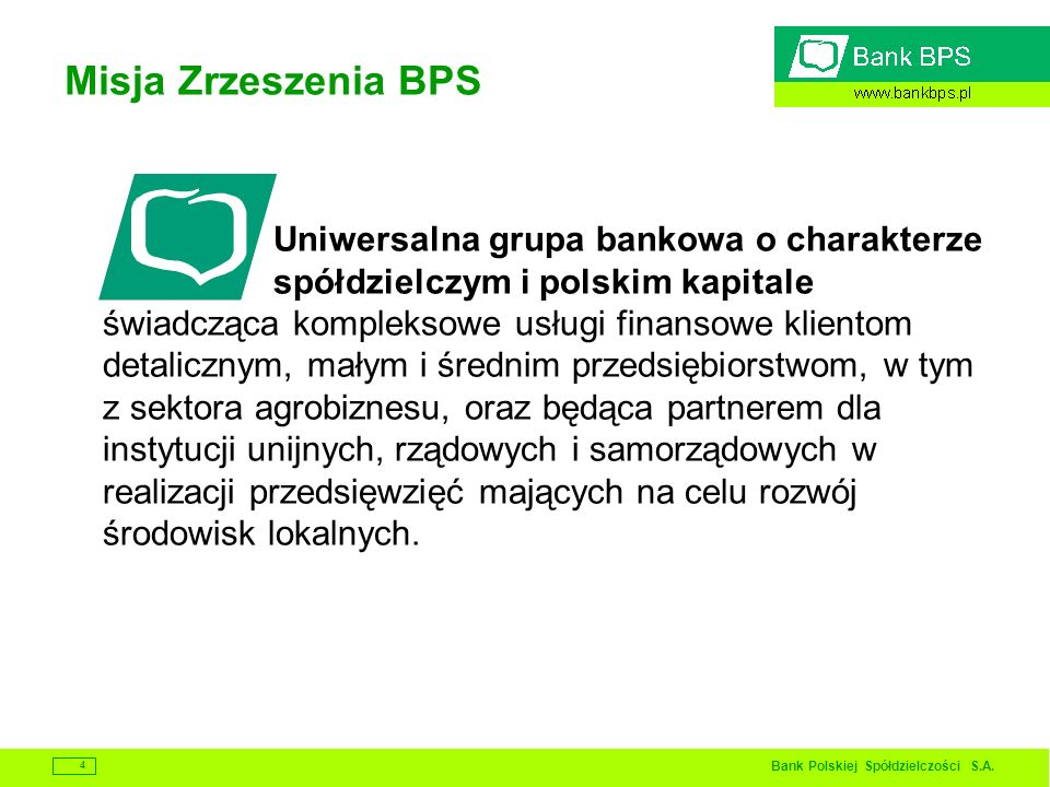 Misja Zrzeszenia BPS
