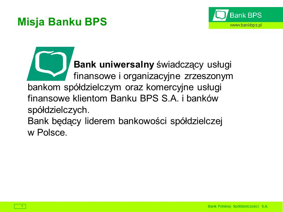 Misja Banku BPS