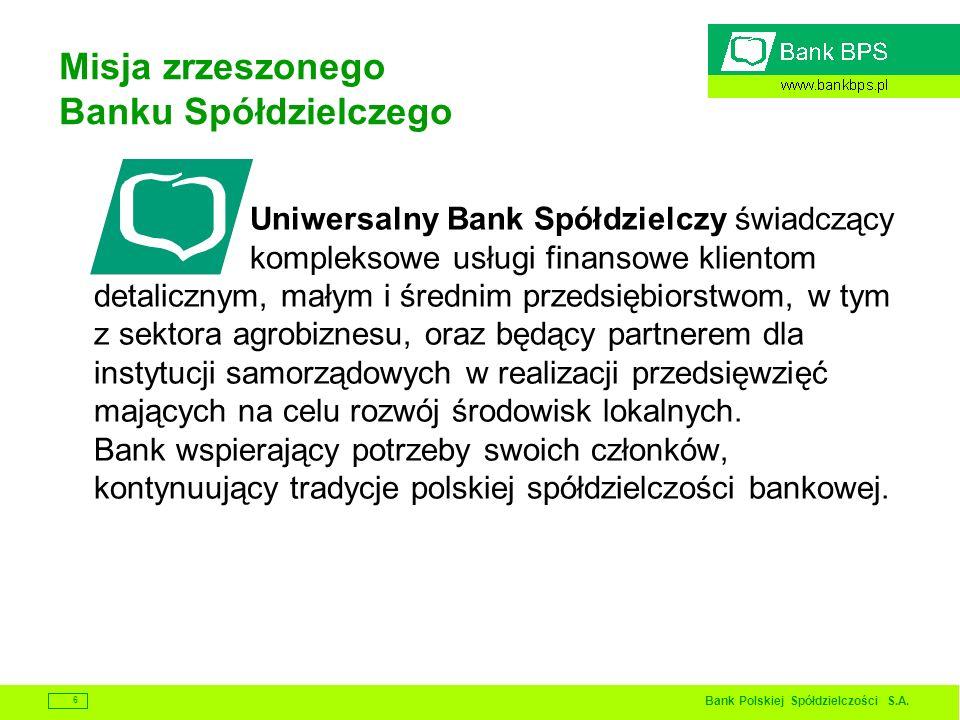 Misja zrzeszonego Banku Spółdzielczego