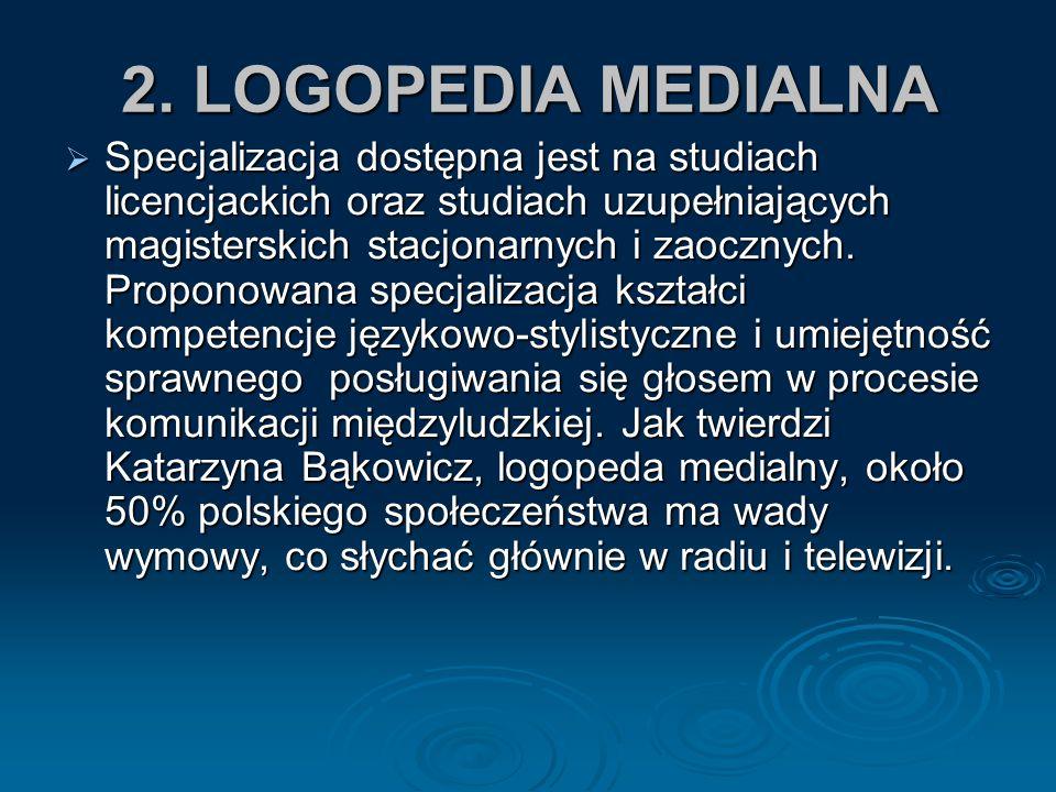 2. LOGOPEDIA MEDIALNA