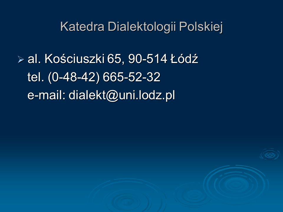 Katedra Dialektologii Polskiej
