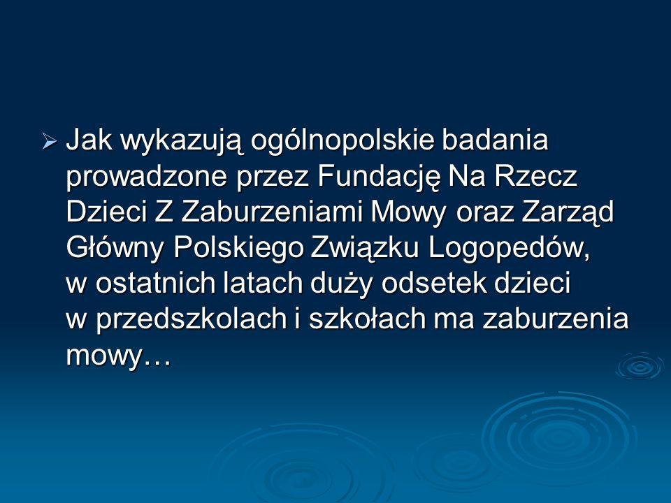 Jak wykazują ogólnopolskie badania prowadzone przez Fundację Na Rzecz Dzieci Z Zaburzeniami Mowy oraz Zarząd Główny Polskiego Związku Logopedów, w ostatnich latach duży odsetek dzieci w przedszkolach i szkołach ma zaburzenia mowy…
