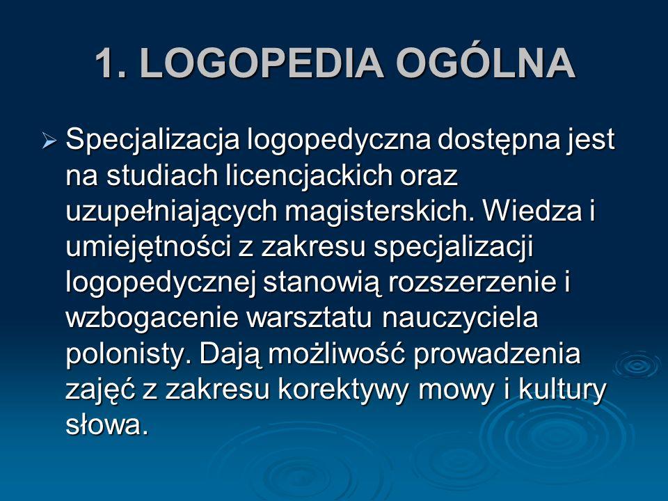 1. LOGOPEDIA OGÓLNA