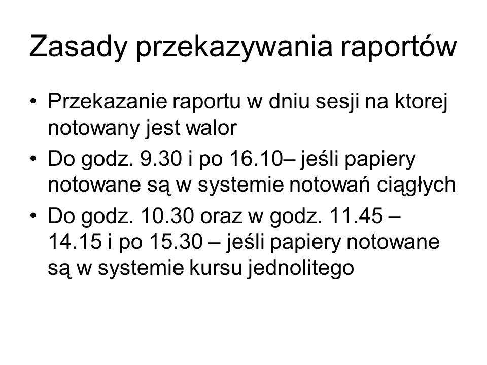 Zasady przekazywania raportów