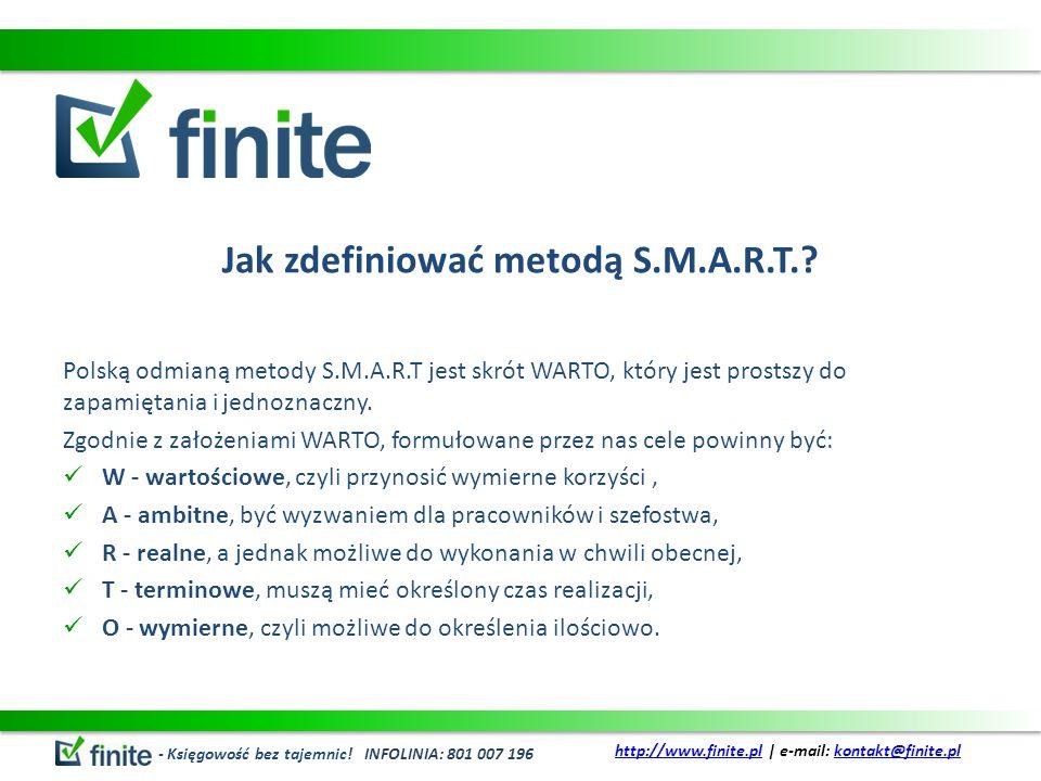Jak zdefiniować metodą S.M.A.R.T.