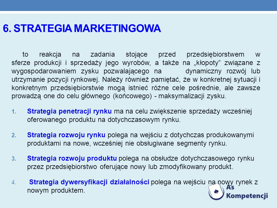 6. Strategia marketingowa