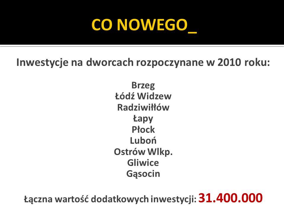 CO NOWEGO_ Inwestycje na dworcach rozpoczynane w 2010 roku: Brzeg