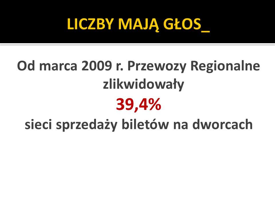 LICZBY MAJĄ GŁOS_ Od marca 2009 r. Przewozy Regionalne zlikwidowały.