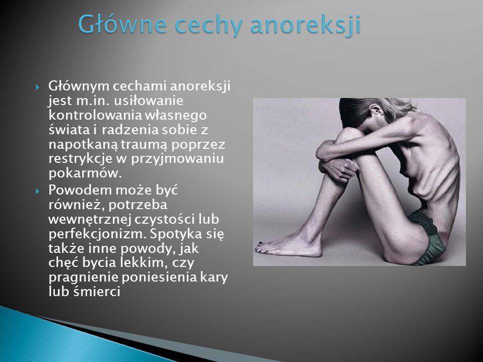 Główne cechy anoreksji