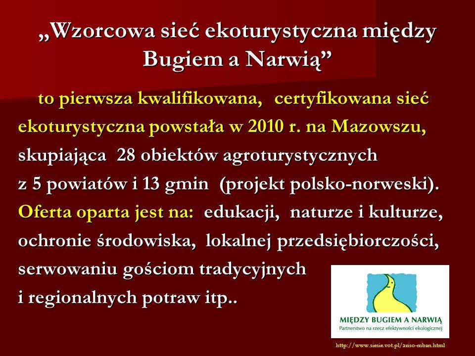 """""""Wzorcowa sieć ekoturystyczna między Bugiem a Narwią"""