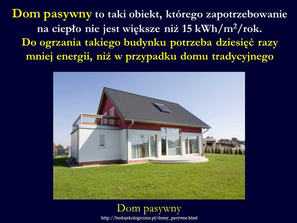 Dom pasywny to taki obiekt, którego zapotrzebowanie na ciepło nie jest większe niż 15 kWh/m2/rok. Do ogrzania takiego budynku potrzeba dziesięć razy mniej energii, niż w przypadku domu tradycyjnego