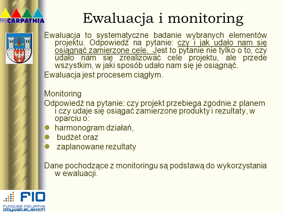 Ewaluacja i monitoring