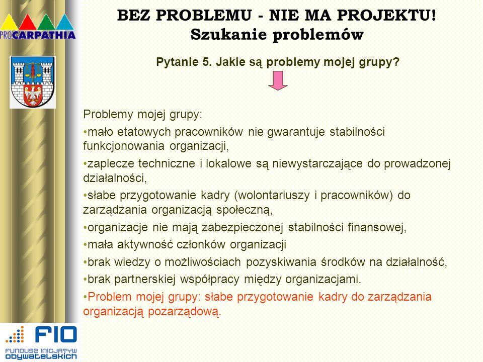 BEZ PROBLEMU - NIE MA PROJEKTU! Szukanie problemów