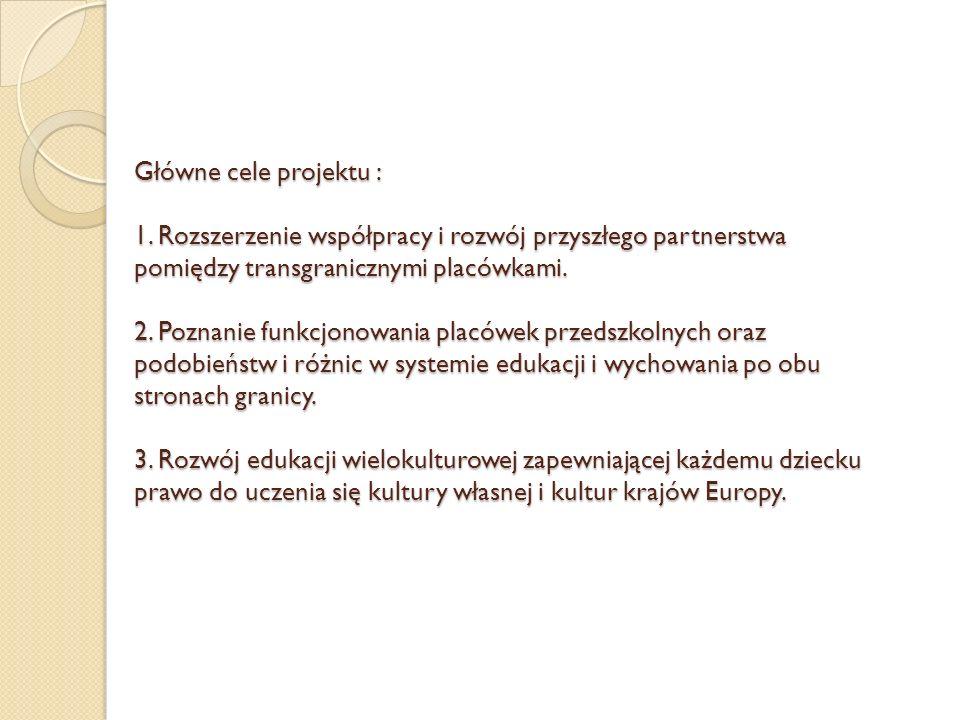 Główne cele projektu : 1.