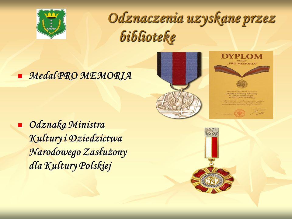 Odznaczenia uzyskane przez bibliotekę