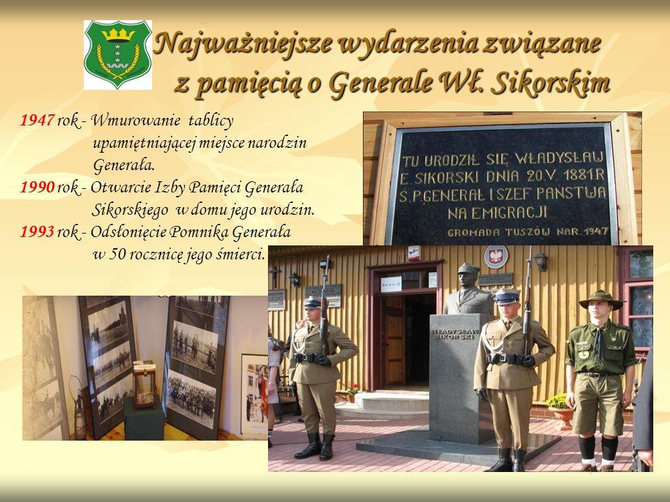 Najważniejsze wydarzenia związane z pamięcią o Generale Wł. Sikorskim
